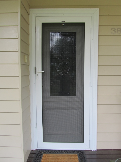 Crimsafe security doors in melbourne best price available - White security screen door ...