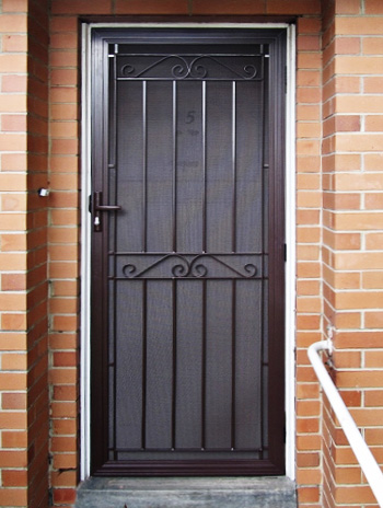 Seaford aluminium steel security door for Metal security doors