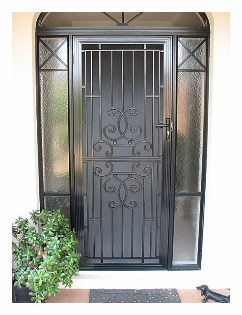 Aluminum Security Doors : Sp cast aluminium security door