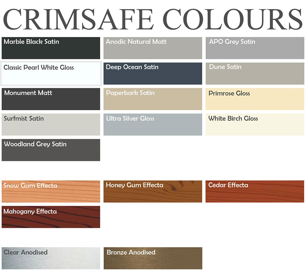 Crimsafe-Colours